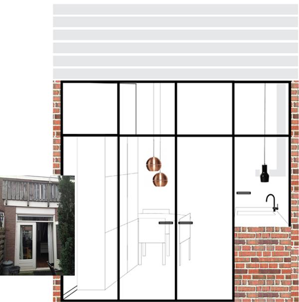 ontwerp achterpui arbeiderswoning utrecht pimpelwit