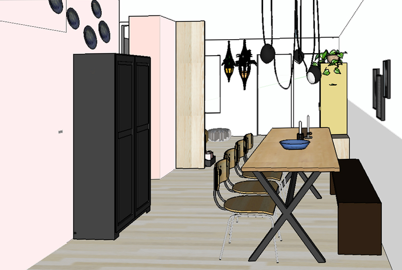 Pimpelwit interieurontwerp huis make-over-interieur-flos-hay-industrieel-muuto-planten