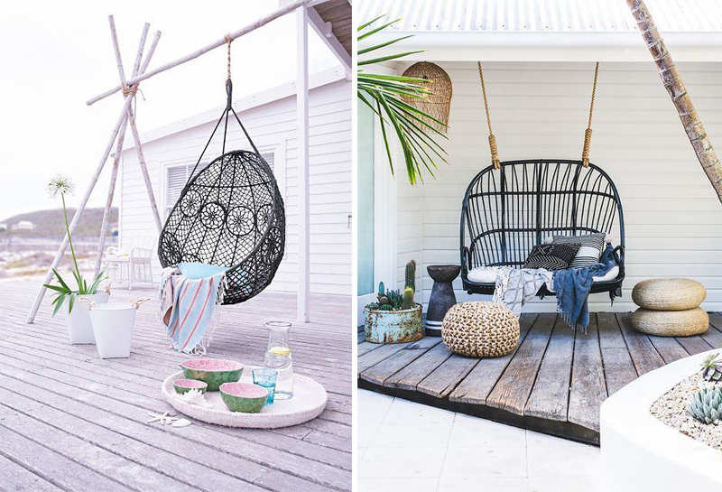 Tuininspiratie om bij weg te dromen-pimpelwit-showhome-hangstoel-tuindecoratie-tuinstyling